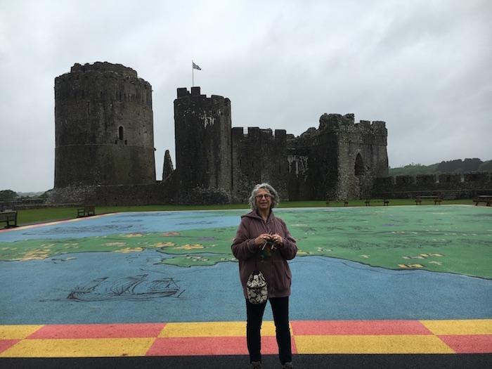 Lea at Penbroke Castle in Wales