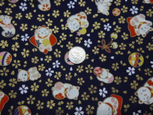 Lucky cat beckoning cat fabric for custom made bags