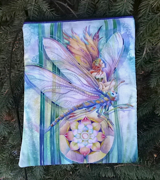 Fae with dragonfly purse with smart phone pocket