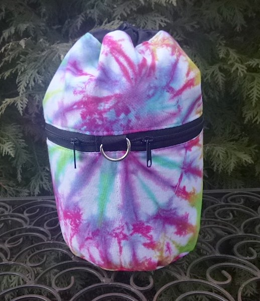 Tie dye knitting project bag