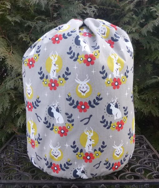 Jackalope knitting bag for large projects blankets sweaters Afghans