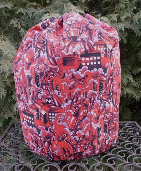 Robots knitting project bag for blankets sweaters Afghans