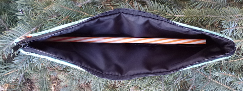 zippered pouch for paper and reusable straws