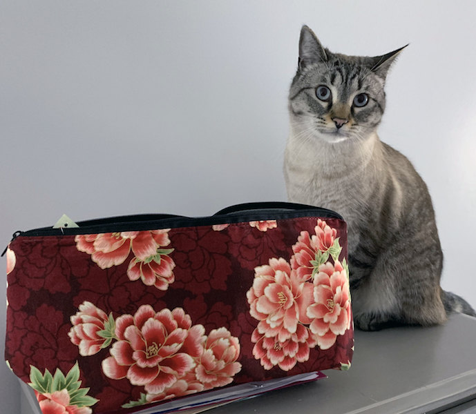 Kitty and flat bottom bag for mahjong tiles
