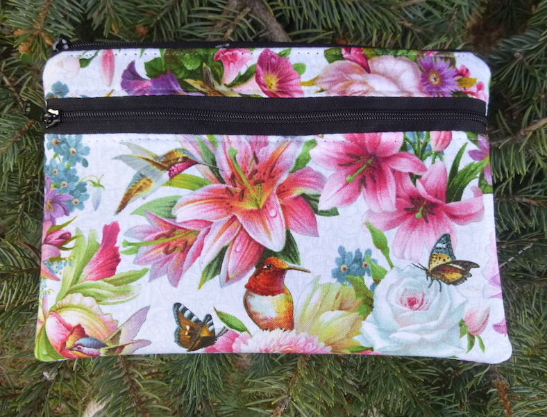 hummingbird butterflies mini wallet iPhone purse