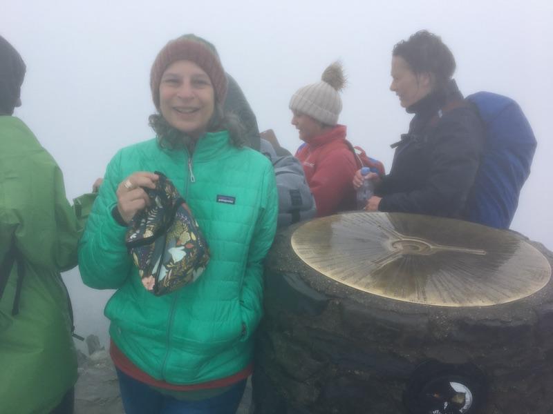 Lea on Mount Snowdon in Wales
