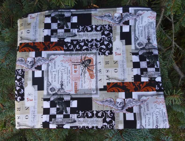Gothic desk portfolio magazines documents art supplies travel bag