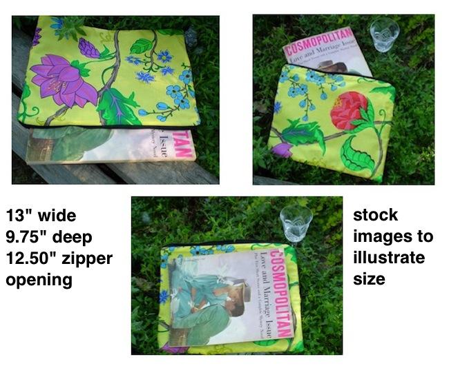 boutique style portfolio for documents magazines art supplies lingerie travel bag
