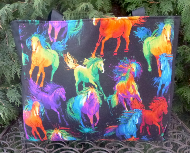 Colorful horses Fleur tote bag