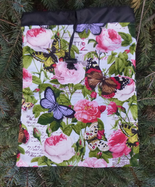 Butterflies flat bag for organizing suitcase for travel or game tiles