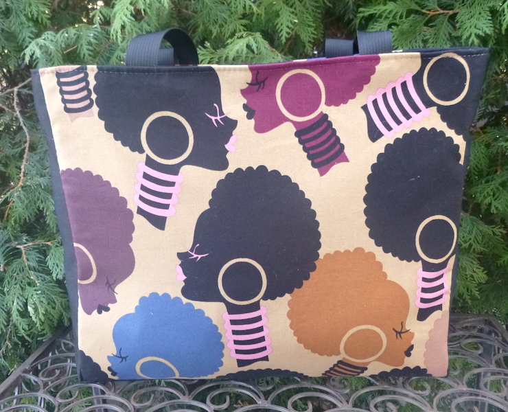 African Woman tote bag by Zoe's Bag Boutique