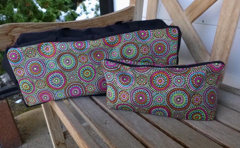 Custom made soft sided tote bag for mahjong racks, pushers and tiles