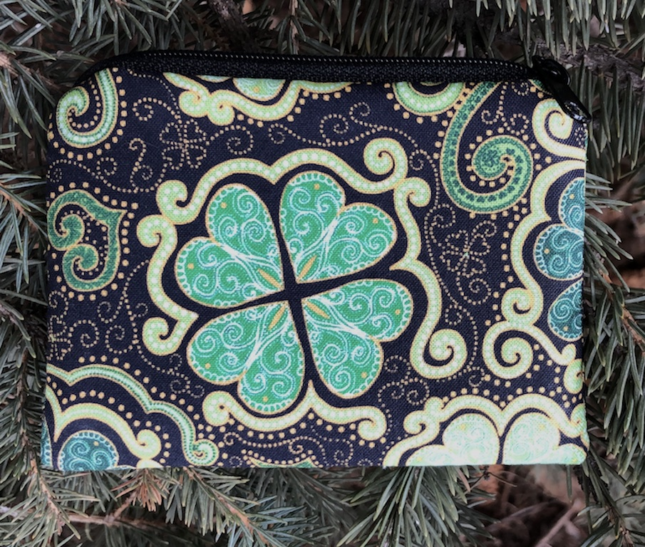 St Patrick's Day Irish Shamrocks coin purse