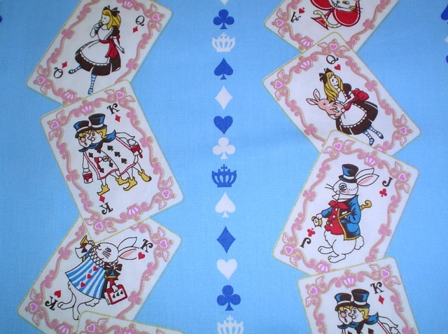 Alice In Wonderland fabric for custom bags