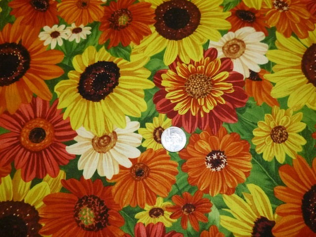 Fall flowers fabric for custom bags Zoe's Bag Boutique
