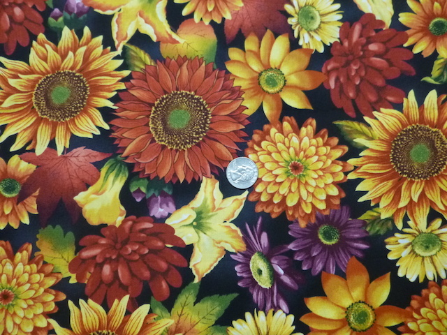 Autumn flowers fabric for custom bags Zoe's Bag Boutique