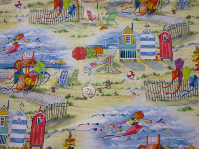Beach kites fabric for bags at Zoe's Bag Boutique