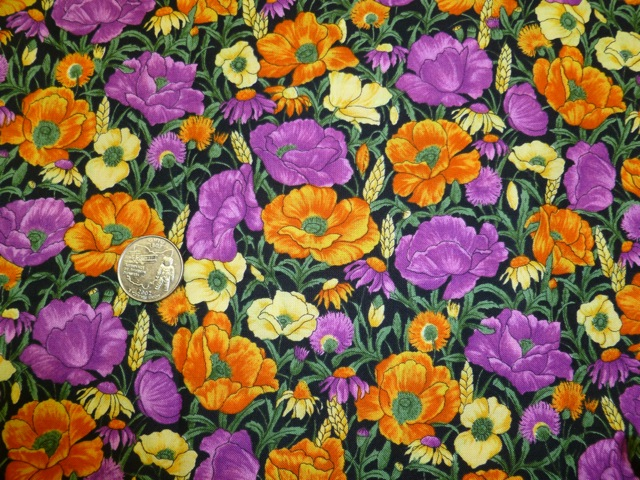 Colorful floral fabric for custom bags Zoe's Bag Boutique