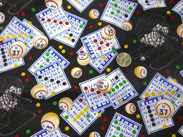 Bingo fabric for custom bags Zoe's Bag Boutique