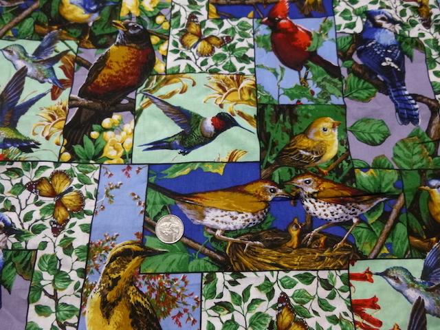 Bird fabric for custom bags Zoe's Bag Boutique