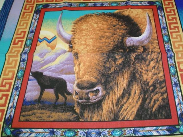 Buffalo fabric for custom bags