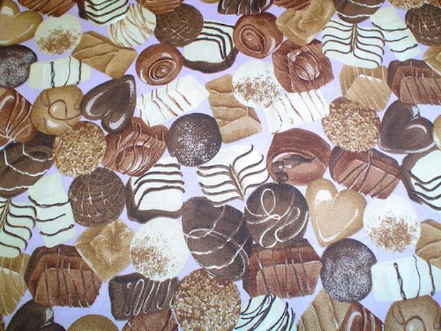 Chocolates fabric for custom bags Zoe's Bag Boutique