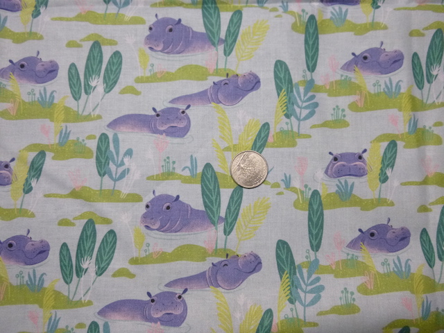 Hippos fabric for bags