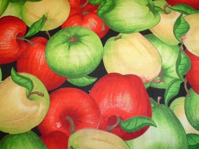 Apples fabric for custom bags Zoe's Bag Boutique