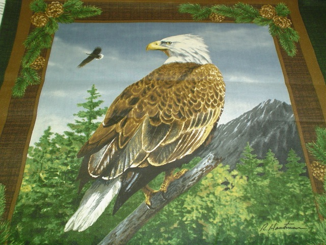 Eagle fabric for custom bags Zoe's Bag Boutique