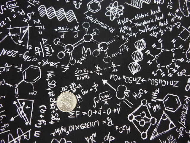 Equations fabric for custom bags Zoe's Bag Boutique