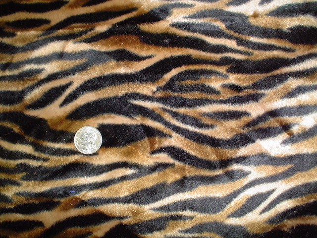 Faux fur tiger fabric for custom bags Zoe's Bag Boutique