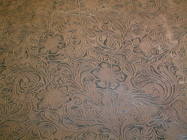 Faux tooled leather fabric for custom bags Zoe's Bag Boutique