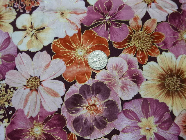 Flowers, leaves, botanicals fabrics for custom bags at Zoe's Bag Boutique