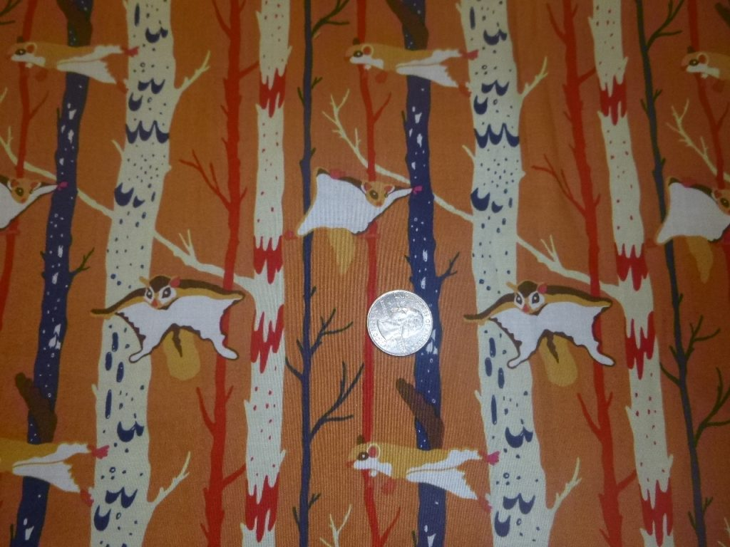 Flying Squirrels fabric for bags