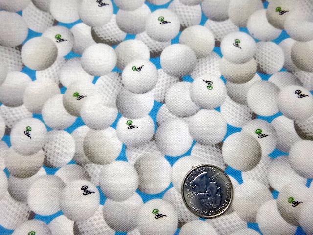 Golf fabrics for custom made bags at Zoe's Bag Boutique