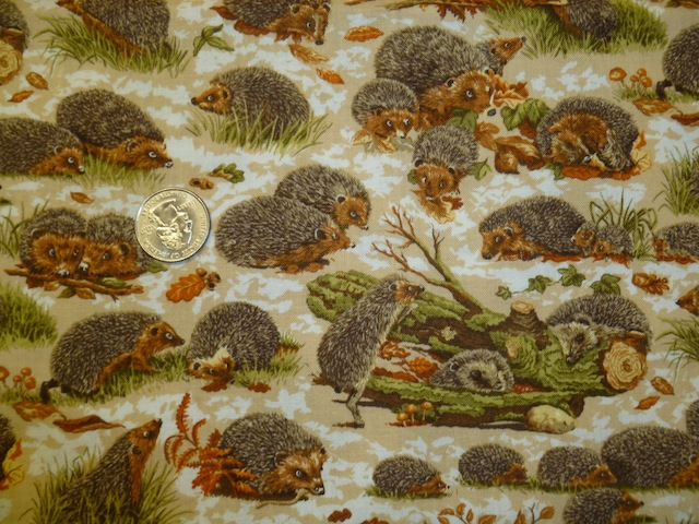 Hedgehogs fabric for bags