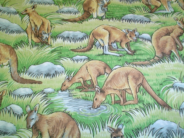 Kangaroo fabric for custom bags at Zoe's Bag Boutique