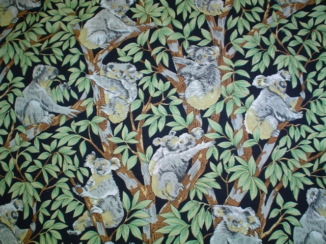 Koala fabric for bags