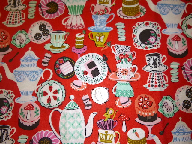 Mad Hatter Tea Party fabric for custom bags