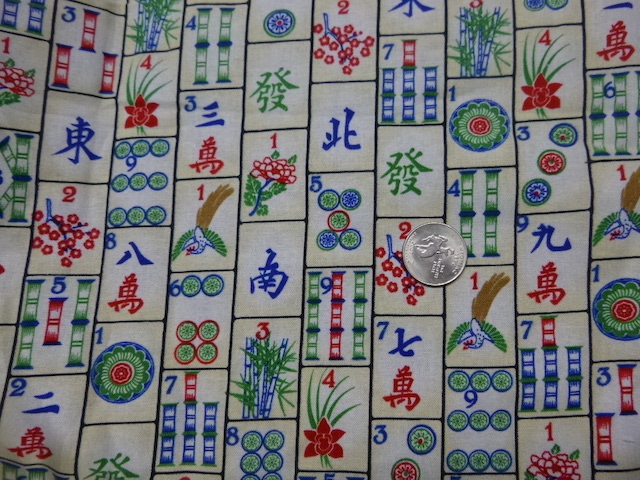 Mahjong fabric for custom bags Zoe's Bag Boutique