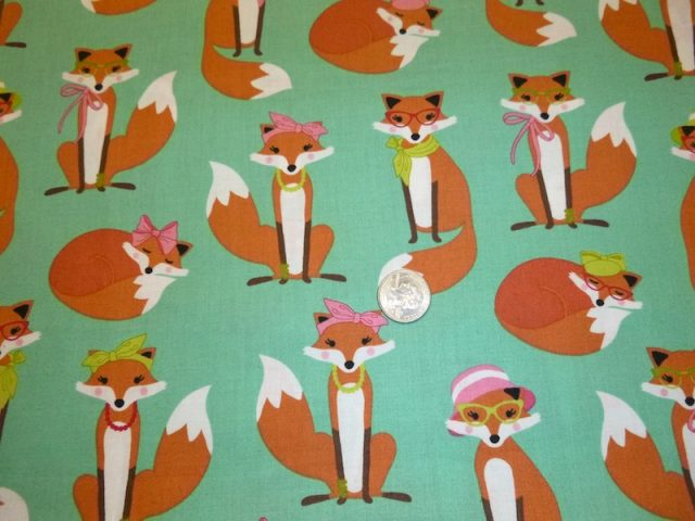 fox fabric for bags