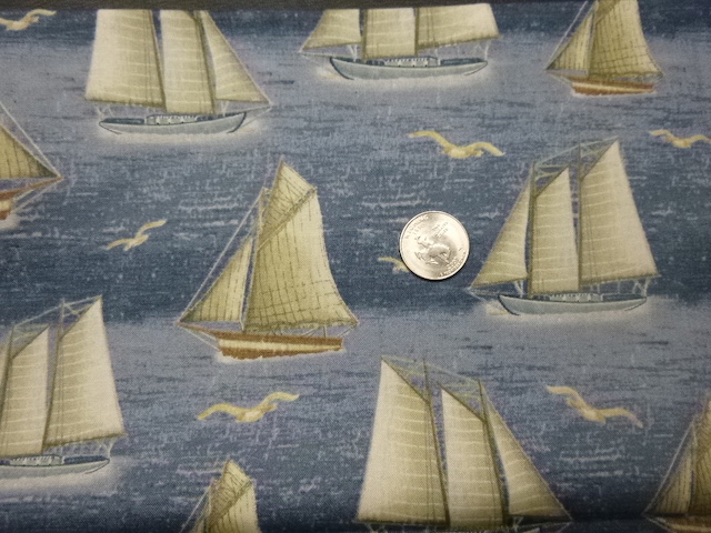 Sailing fabric for custom bags at Zoe's Bag Boutique