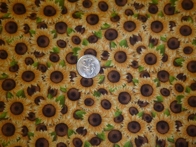 Sunflowers fabric for custom bags Zoe's Bag Boutique