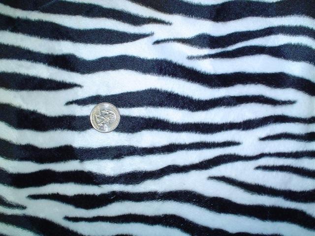 Faux fur zebra fabric for custom bags Zoe's Bag Boutique