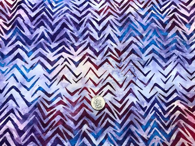 Purple batik fabric for custom bags at Zoe's Bag Boutique