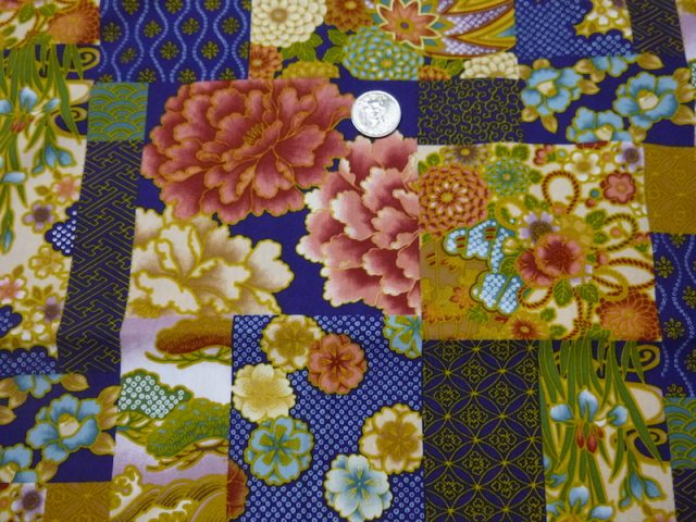 Japanese floral collage fabric for custom bags Zoe's Bag Boutique