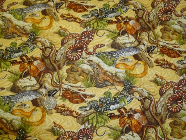 Australian Reptiles fabric for custom bags Zoe's Bag Boutique