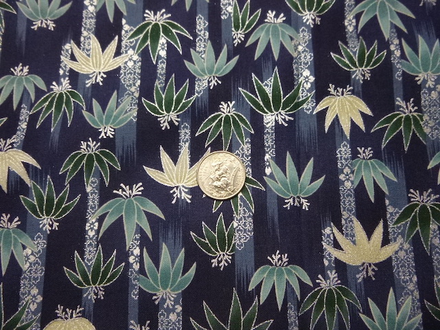 Bamboo navy fabric for custom bags Zoe's Bag Boutique