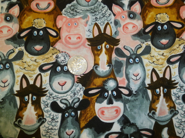 Farm animals fabric for custom bags Zoe's Bag Boutique