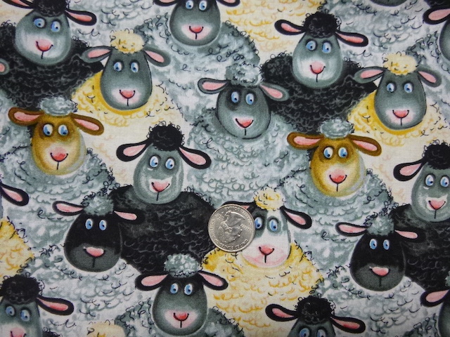 Cute Sheep fabric for custom knitting crochet bags by Zoe's Bag Boutique